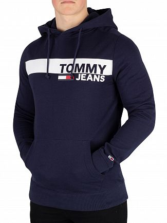 Tommy Jeans Black Iris Navy Essential Graphic Pullover Hoodie