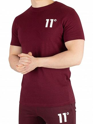 11 Degrees Ruby Marl Core T-Shirt