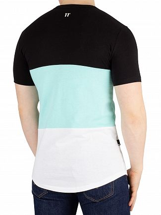 11 Degrees Aqua Rubix Triple Panel T-Shirt