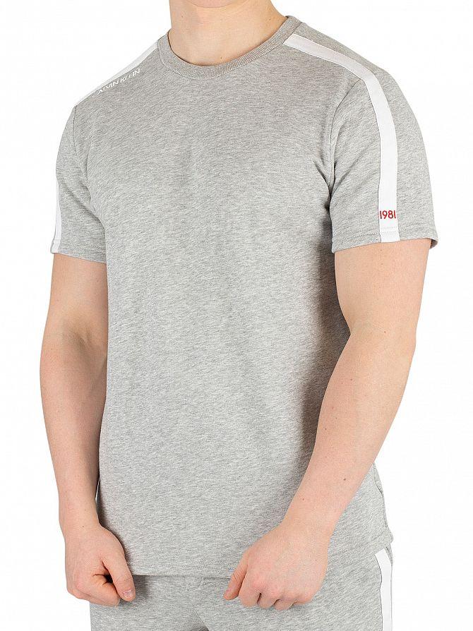 Calvin Klein Grey Heather Logo T-Shirt