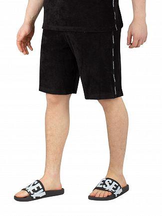 Calvin Klein Black Towelling Sweatshorts