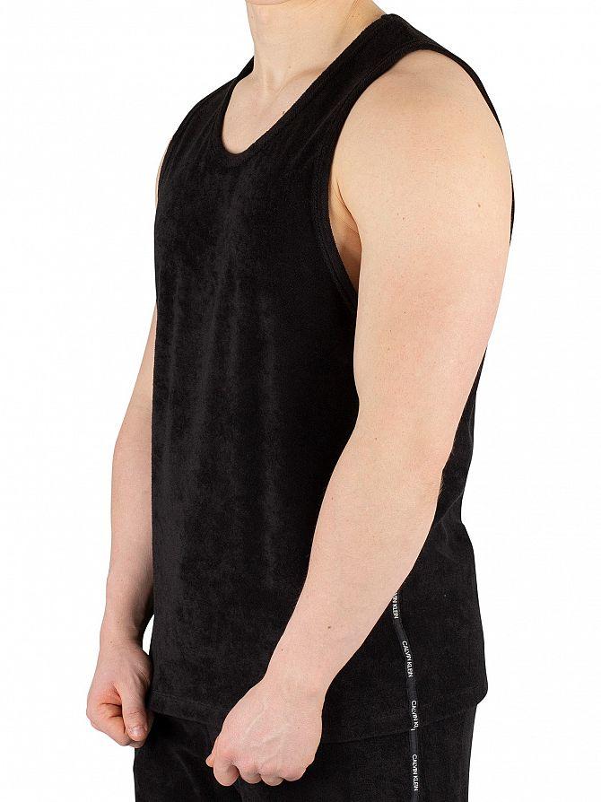 Calvin Klein Black Towelling Tank Top
