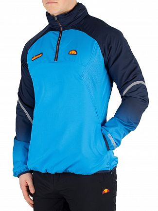 Ellesse Blue Istomes 1/4 Zip Poly Pullover Jacket