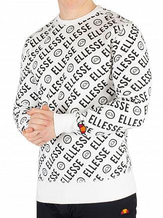 Ellesse White Muro Sweatshirt