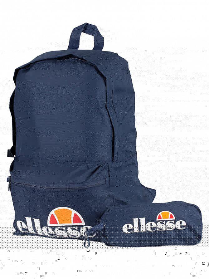 Ellesse Navy Rolby Backpack & Pencil Case