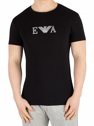 Emporio Armani Black Graphic T-Shirt