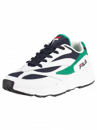 Fila White/Navy/Shady Glade V94M Low Trainers