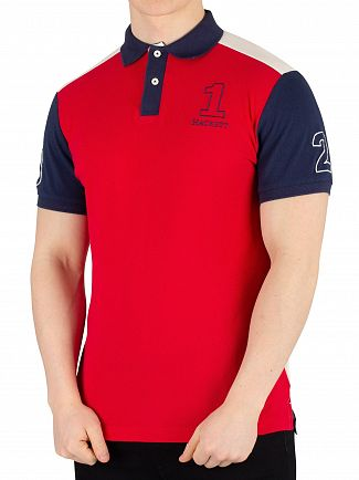 Hackett London Red Archive 1234 Poloshirt