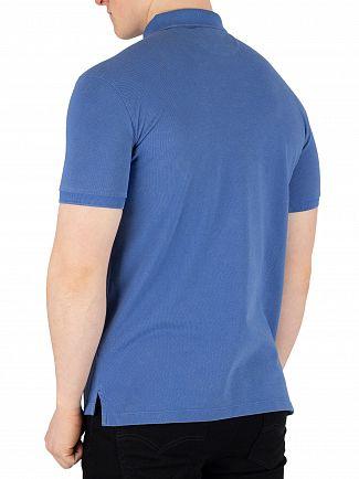 Hackett London Middle Blue Archive Logo Poloshirt