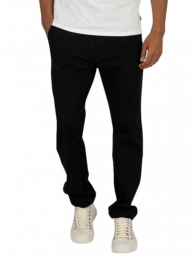 Levi's Black 502 Regular Taper Chinos