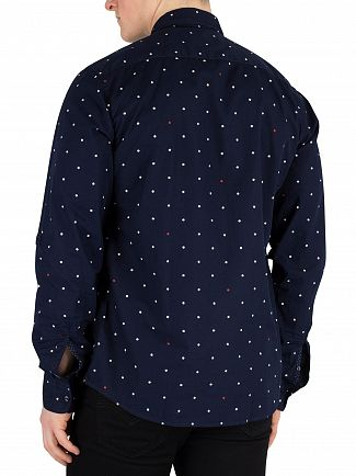 Scotch & Soda Navy Pattern Shirt