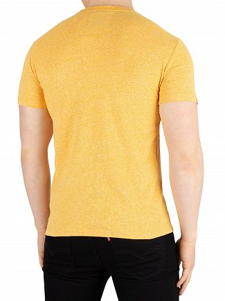 Superdry Sunshine Yellow Grit Orange Label Vintage Embroidery T-Shirt