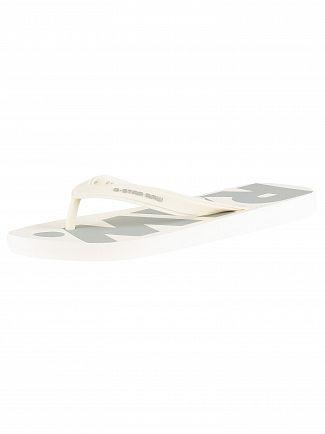 G-Star White/Industrial Grey Dend Flip Flops