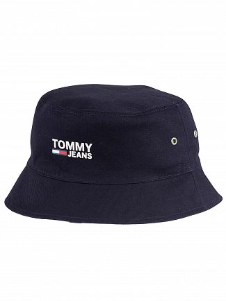 Tommy Jeans Classic White Logo Reversible Bucket Hat