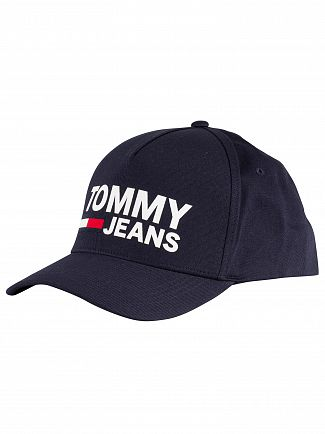 Tommy Jeans Black Iris Navy Flock Cap