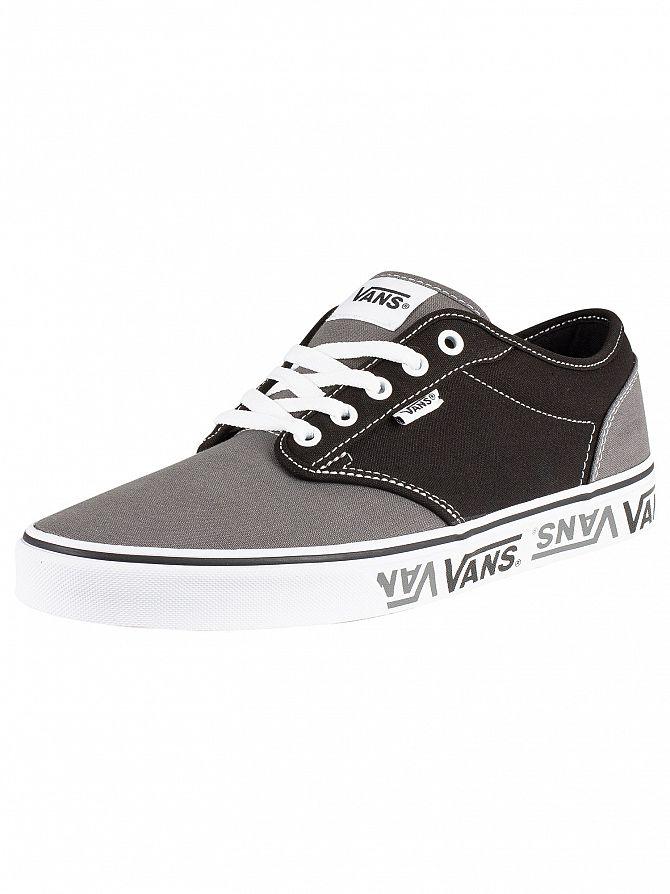 Vans Black/Grey Atwood Sidewall Logo Trainers
