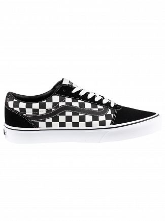 Vans Black/True White Ward Checkered Trainers