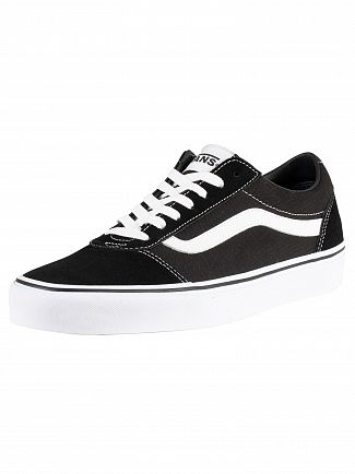 Vans Black/White Ward Suede Canvas Trainers