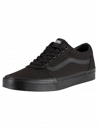 Vans Black/Black Ward Canvas Trainers