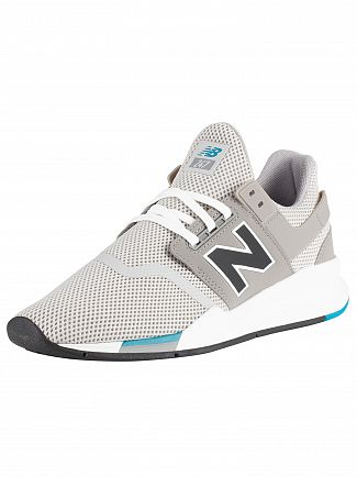 New Balance Grey/Teal 247 Trainers
