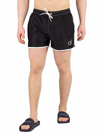 Calvin Klein Black Short Runner Swimshorts