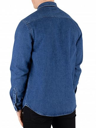 Carhartt WIP Blue Stone Washed Sallnac Shirt Jacket