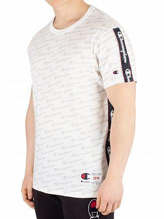 Champion White All Over Print T-Shirt