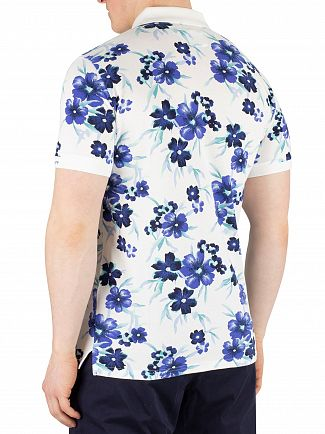 Gant Eggshell All Over Floral Pique Rugger Poloshirt