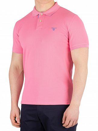 Gant Pink Rose Contrast Collar Pique Rugger Poloshirt
