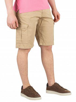 Gant Dark Khaki Relaxed Twill Utility Cargo Shorts