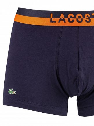 Lacoste Navy 3 Pack Cotton Stretch Trunks