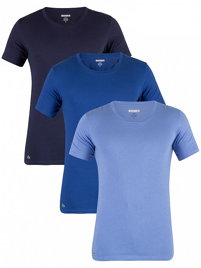 Lacoste Blue 3 Pack Slim Fit T-Shirt