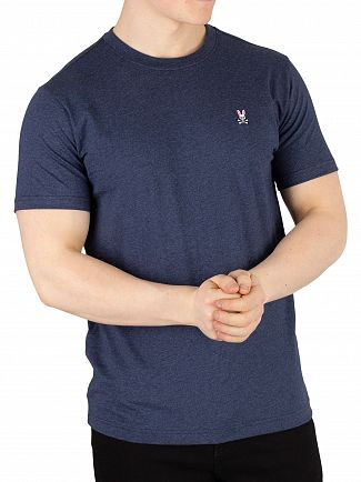 Psycho Bunny Heather Navy Crew Neck T-Shirt