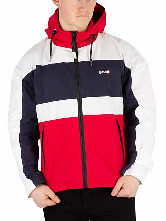 Schott White/Red Florida Jacket