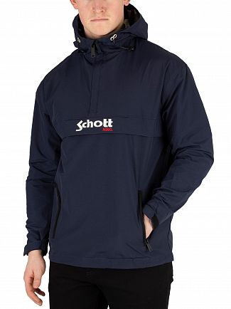 Schott Navy Pikes Hooded Jacket