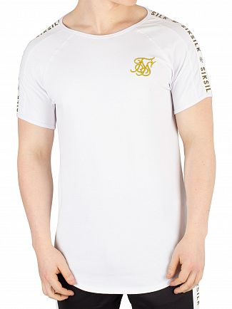 Sik Silk White Panel T-Shirt