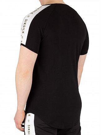 Sik Silk Black/White/Gold Panel T-Shirt