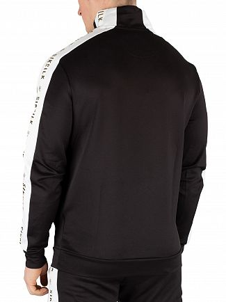 Sik Silk Black/White/Gold Quarter Zip Racer Tape Track Jacket