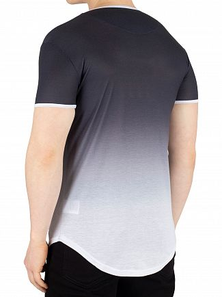 Sik Silk Anthracite/White Ringer Fade Gym T-Shirt