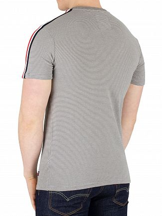 Superdry Athletic Grey Feeder Premium Goods Racer Stripe T-Shirt