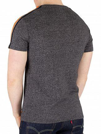 Superdry Vintage Black Grit Premium Goods Racer Stripe T-Shirt
