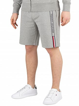 Tommy Hilfiger Cloud Heather Basic Branded Sweatshorts