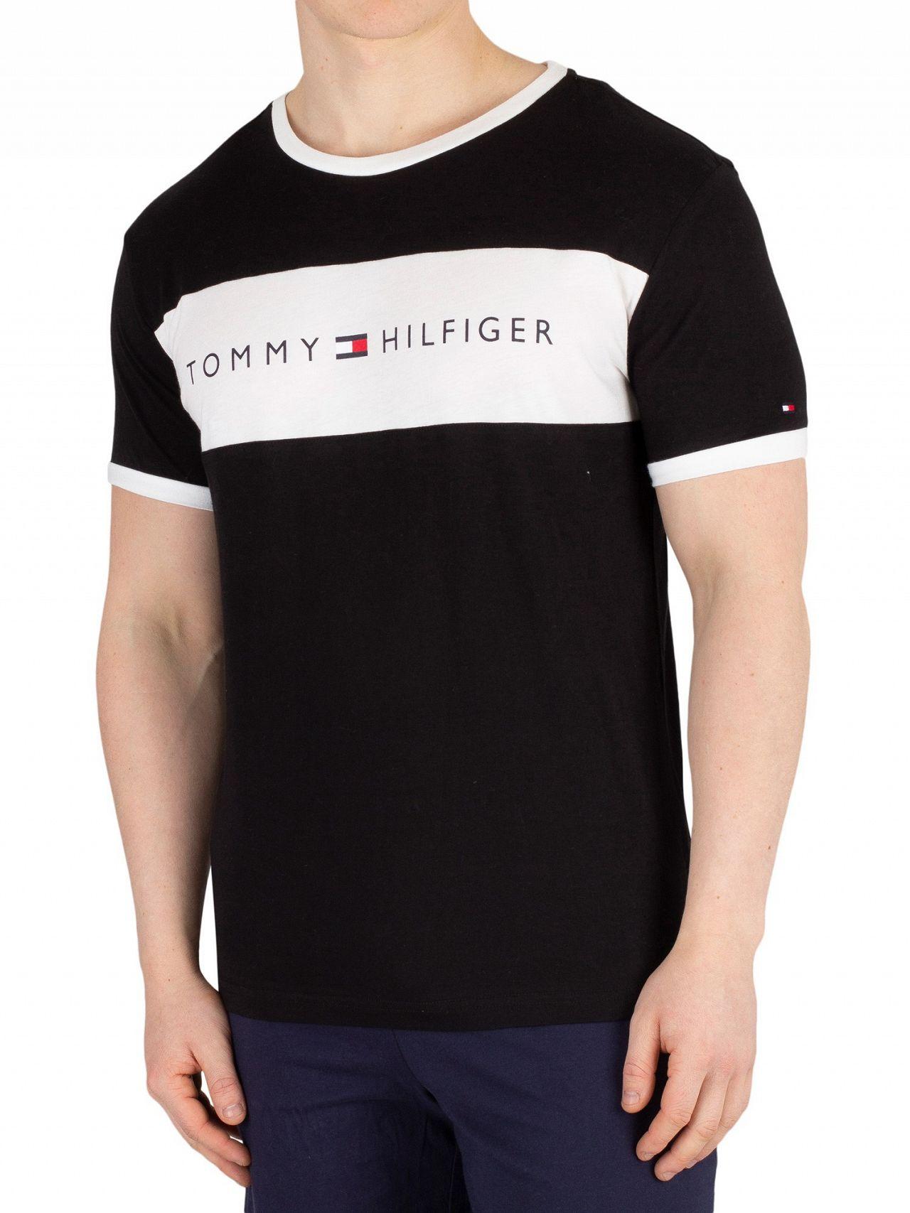 72d8e40d Tommy Hilfiger Black Logo Flag T-Shirt | Standout