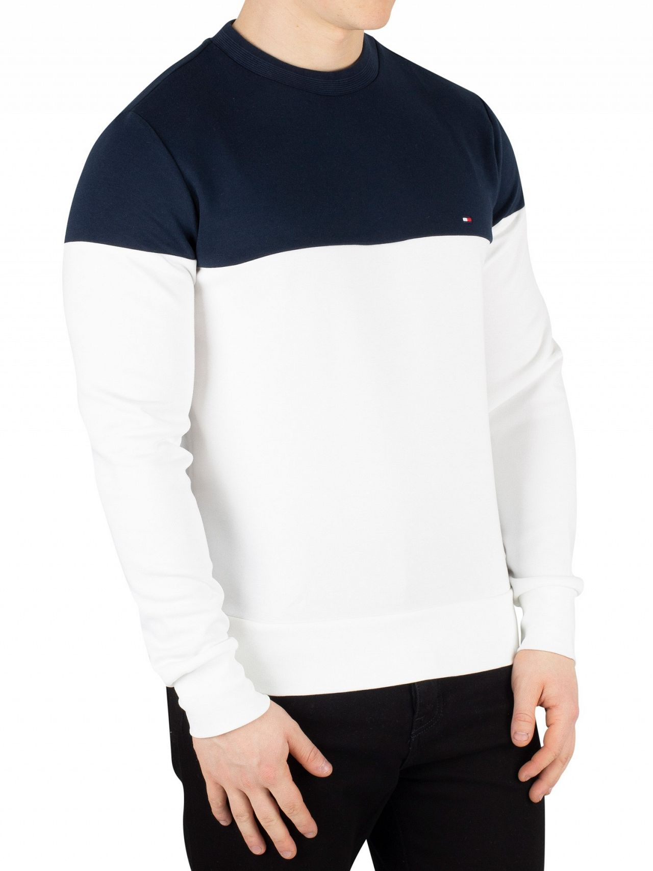 a7a71d13 Tommy Hilfiger Bright White Pieced Colorblock Sweatshirt | Standout