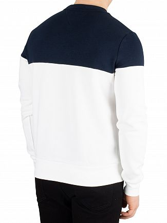 Tommy Hilfiger Bright White Pieced Colorblock Sweatshirt