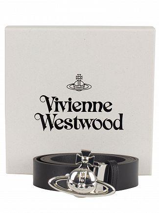 Vivienne Westwood Black Orb Buckle Belts