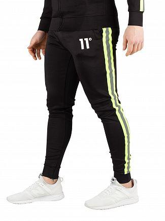 11 Degrees Black Matrix Poly Joggers