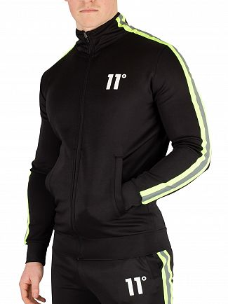 11 Degrees Black Matrix Poly Track Top