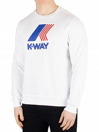 K-Way White Augustine Macro Slim Sweatshirt