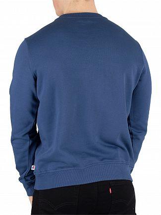 K-Way Blue Ottanio Augustine Macro Slim Sweatshirt